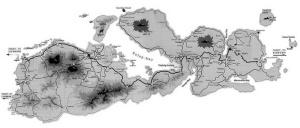 Rute peta Jalur Pendakian dan Topografi Gunung Tambora